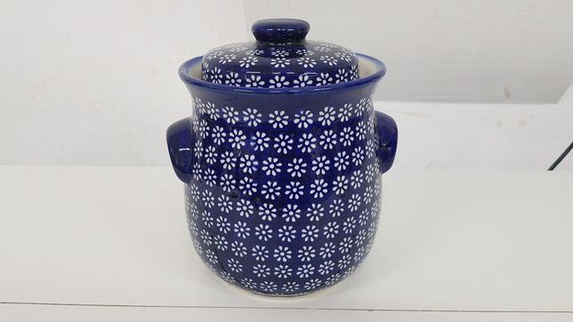 Garnek hermetyczny ceramika Bolesławiec