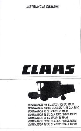 Instrukcja Claas Dominator 78SL 88SL 98SL 108SL 118SL Maxi Classic