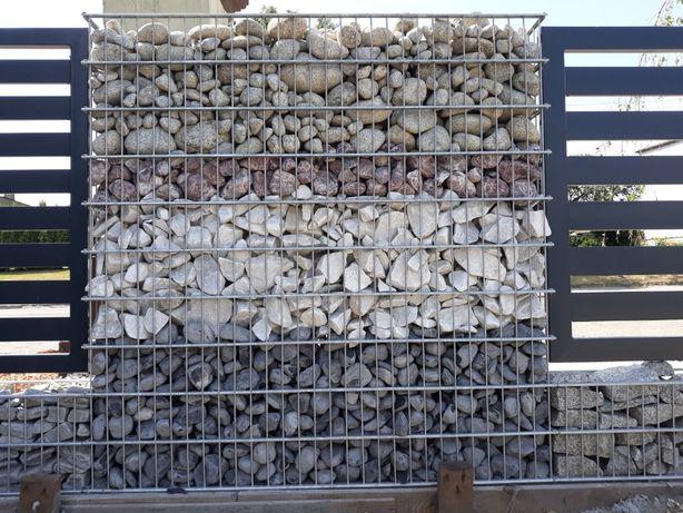 Biały kamień do gabionów - włoski Bianco Carrara 80-150 mm, 1000 kg