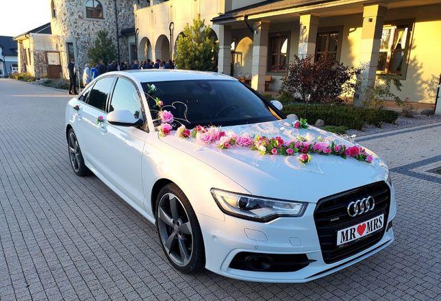 Auto samochód do ślubu, wesela. Audi A6 Biała Perła 480 zł.
