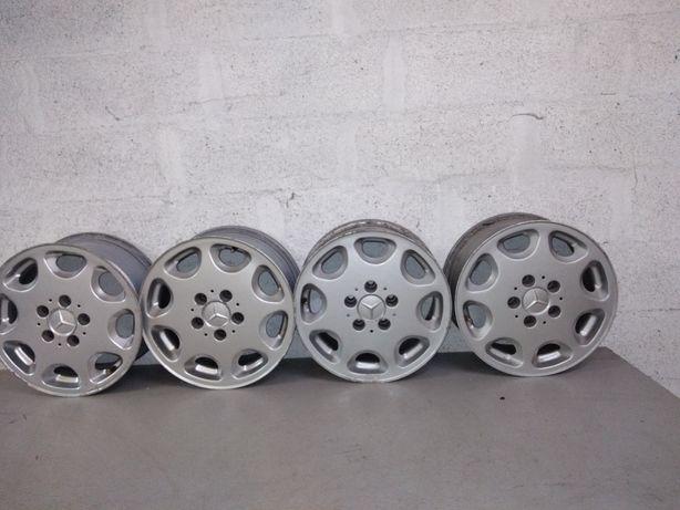 Vendo 4 jantes de alumínio usadas para Mercedes Benz 7JX15H2 5x112