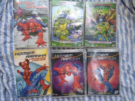 DVD homem aranha e tartaruga ninja