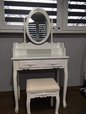 Toaletka z lustrem+taboret