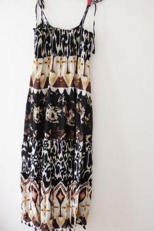 Sukienka KappAhl, rozm.38, boho, maxi, ramiączka, etno, letnia, plaża