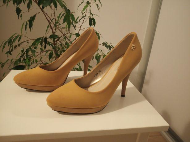 Pantofle miodowe rozm 39