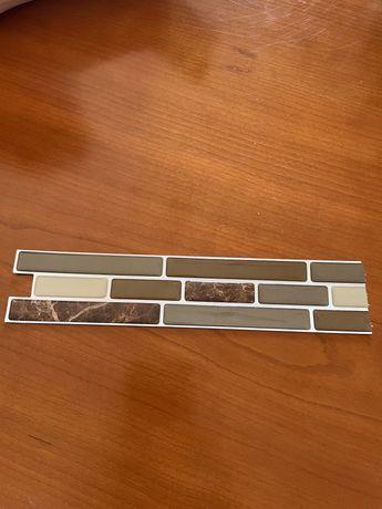 Azuleijos de parede auto adesivos marmorizados 3d