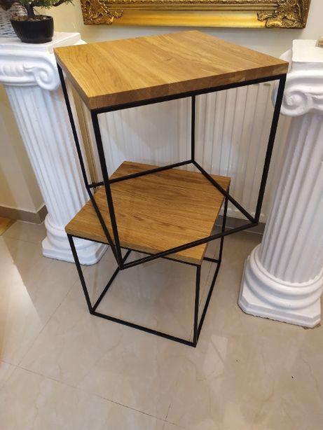 Stolik dębowy w stylu loft