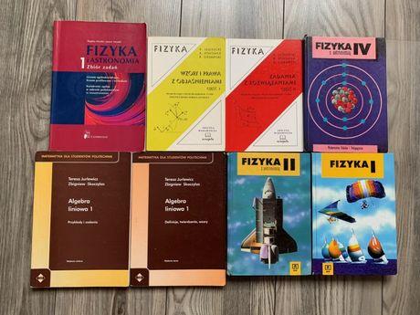9 książek Fizyka matematyka astronomia książki zadania podręczniki