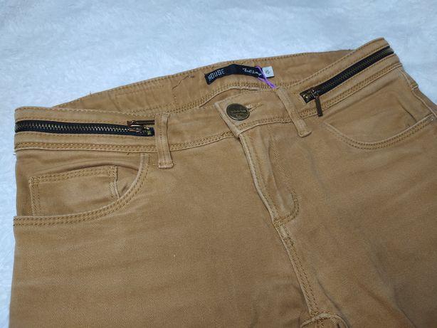 Spodnie w kolorze musztardowym XS