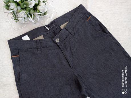 Męskie spodnie chinosy len bawełna polska marka Sempre