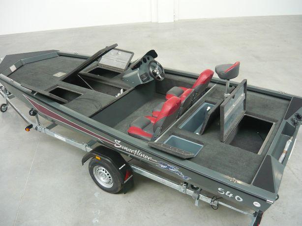 Smartliner 540 Bass łódź motorowa aluminiowa wędkarska łódka zestaw