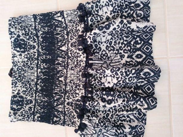 Spódniczka Zara, krótka z falbana i ozdobnymi frędzelkami