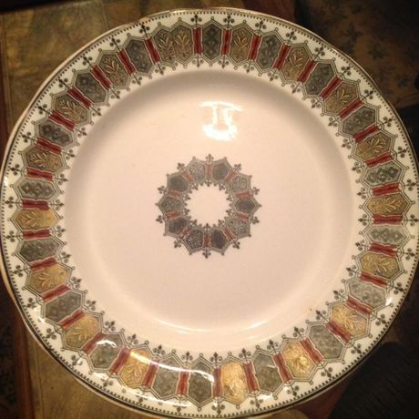 Антикварная тарелка Кузнецова