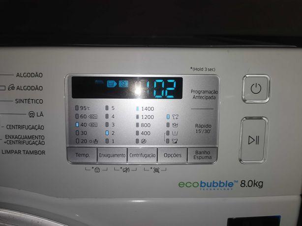Maq roupa Samsung 8kg addwash ecobubble