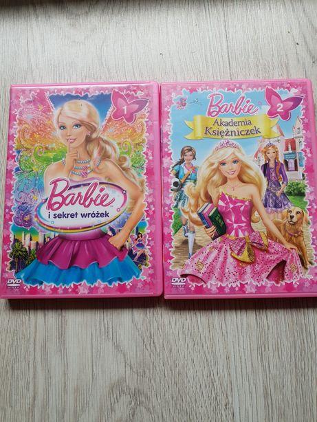 2x DVD Barbie i sekret wróżek oraz Akademia Księżniczek komplet