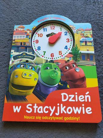 """Książka """"Dzień w Stacyjkowie"""" do nauki zegarka"""