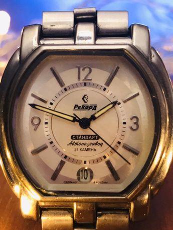 Наручные механические часы «Рекорд» с автоподзаводом, 21 камень