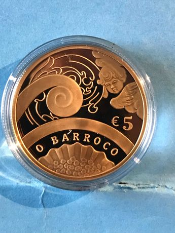 """Moeda em ouro de 5€ """"O Barroco"""""""