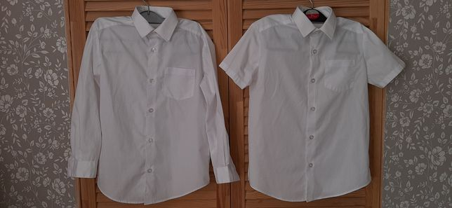 Белые рубашки для школы - две за 60, на 6-8 лет