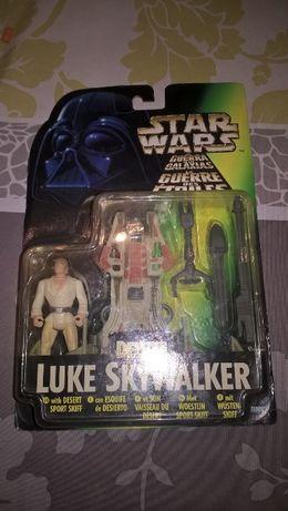 Star Wars Deluxe Luke Skywalker Desert Sport Skiff 1996 Kenner NOVO