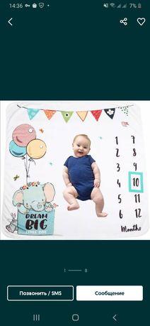 Пеленка фотофон,фотозона для новорожденных