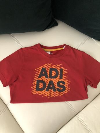 Bluzka koszulka marki Adidas czerwona 152