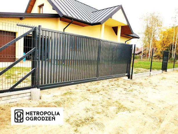 Ogrodzenia panelowe z podmurówka. Montaż. 51 drutów pionowych