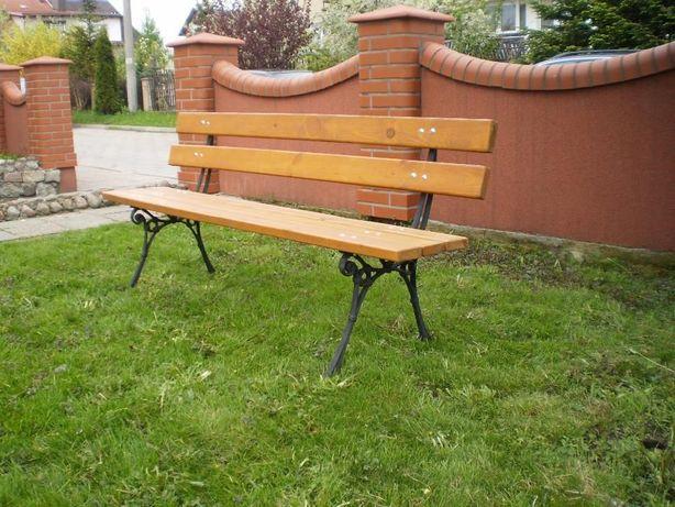 Meble ogrodowe ławka nogi żeliwne175cm dostawa 48h