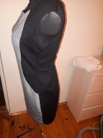 Sukienka elegancka krateczka taliowana M/L