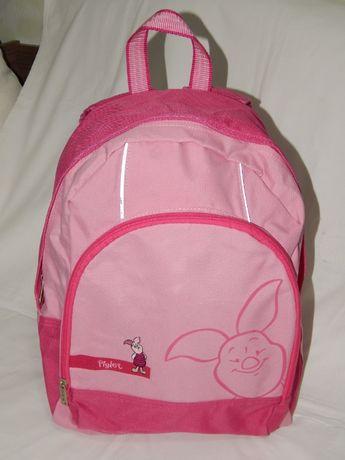 Школьный розовый рюкзак Disney с нарисованным и вышитым Piglet.