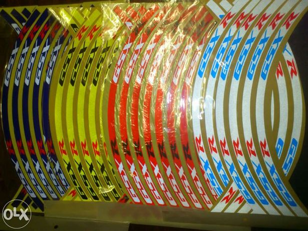 Fitas reflectoras para motas da marca, Honda, Suzuki Yamaha etc