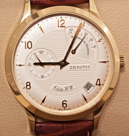 Zenith Elite HW Reserve de Marche 18K Gold