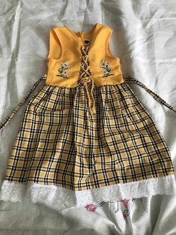 Эксклюзивное детское платье ручной работы из Швейцарии, на 4-7 лет!
