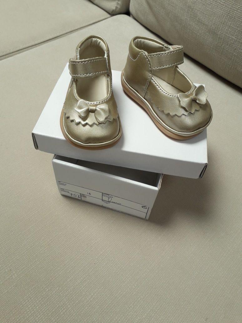 Sapato bebé  menina Dourado n.16