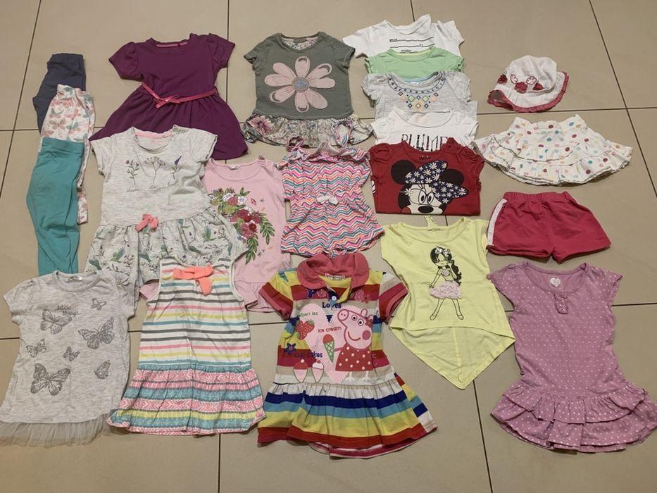 Pakiet zestaw paka 20 szt ubrań na lato dziewczynka roz 92 - P5 Zielona Góra - image 1