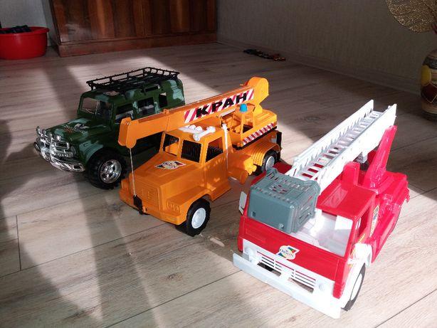 Машинки большие: Кран. Пожарная. Джип инерционный.