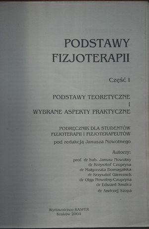 Podstawy Fizjoterapii J.Nowotny