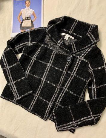 Шерстяной пиджак в клетку