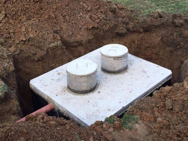 Zbiornik betonowy, Szamba betonowe, Zbiorniki na deszczówkę. Szambo