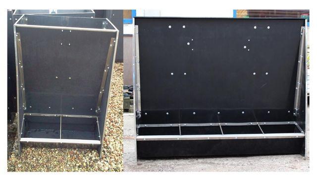 Karmniki/paśniki dla świń z płyty PE-Automat paszowy dwustanowiskowy