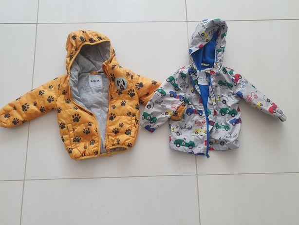Dwie kurtki dla chłopca