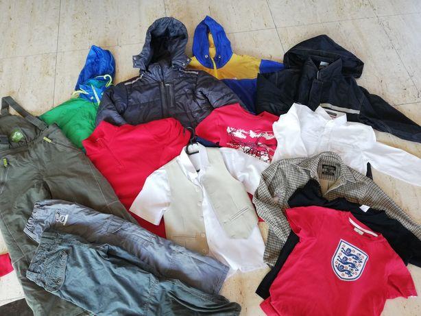 Zestaw chłopak 134, 140 kurtki, ocieplane spodnie H&M Umbro 5.10.15
