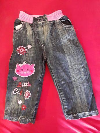Тёплые джинсы на девочку 2 года