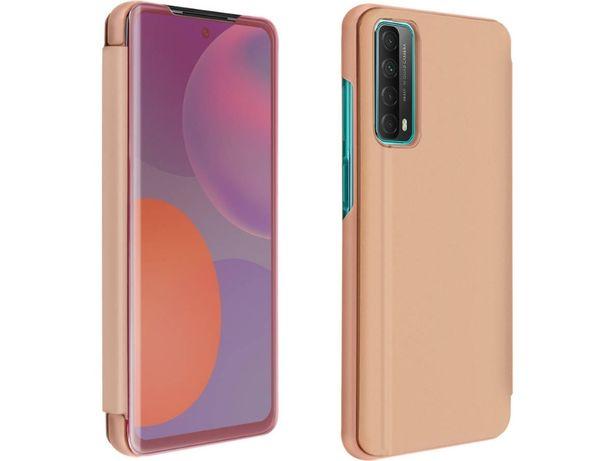 Bolsa Huawei P smart 2021 AVIZAR Espelho Translúcido Rosa