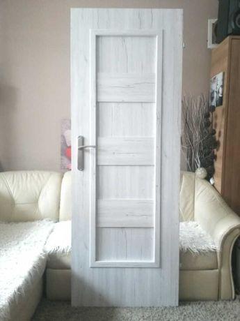 Bielone ~jak drewniane DRZWI POKOJOWE 70 PRAWE wewnętrzne ~białe