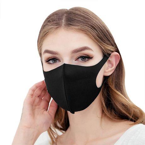 Чёрная защитная маска-питта на лицо | Аниме BTS, K-POP