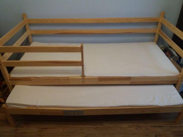 łóżko dziecięce dwuosobowe rozsuwane skrzynia na pościel