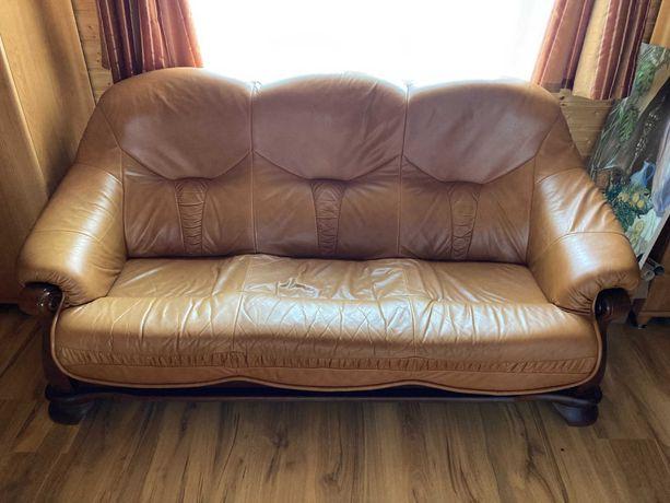 Skórzana sofa z fotelami Kler