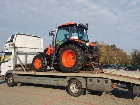 Transport maszyn rolniczych kombajnów ciągników przyczep niskopodwozie