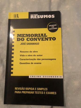livro resumo da obra memorial do convento NOVO